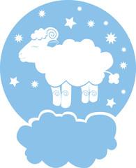 Sheep on cloud