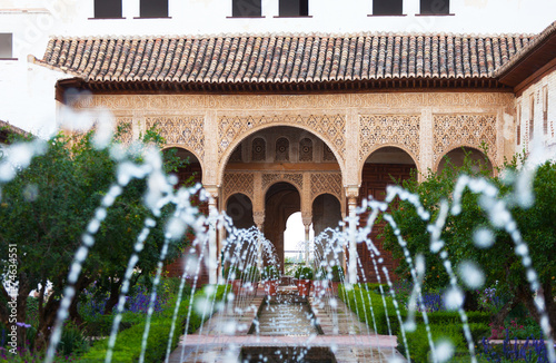 Gardens of the Generalife in Spain, part of the Alhambra - 74634551