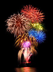 Grandioses Feuerwerk
