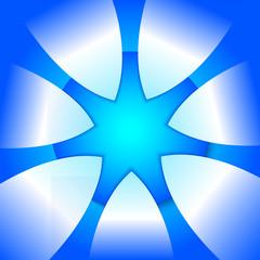 Blue-Star-presentation-template-design-element