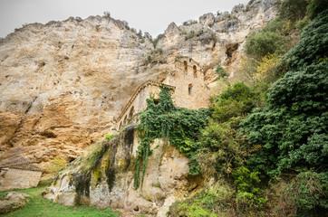 Ancient hermitage located in Tobera, Burgos, Spain.
