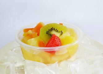 fruit salad on the ice