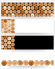 Cut tree stumps background or texture - banners