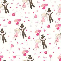 Valentines Day seamless pattern