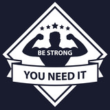 Be Strong vector illustration, eps10, easy to edit