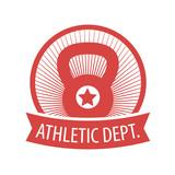 Athletic Dept. emblem in circle vector illustration, eps10