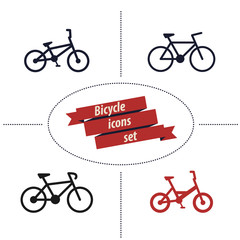 bicycle icons set 2 vector illustration, eps10, easy to edit