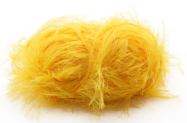 Yellow yarn for knitting