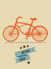 Retro Bike vector illustration, eps10, easy to edit