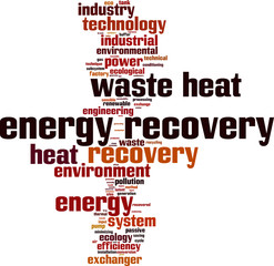 Energy recovery word cloud concept. Vector illustration