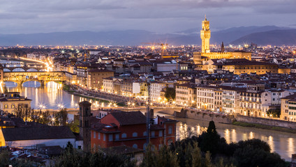 Florence, night scenics from Piazzale Michelangelo.