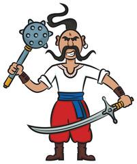 Ukrainian Cossack With Weapons