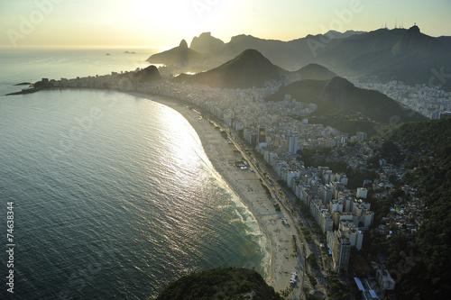 Aerial view of Copacabana Beach, Rio de Janeiro, Brazil Poster