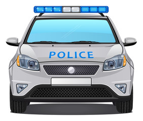 Vector Police Car #3 - Front view