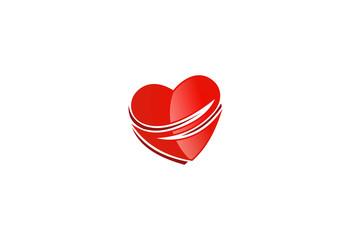 love abstract vector logo