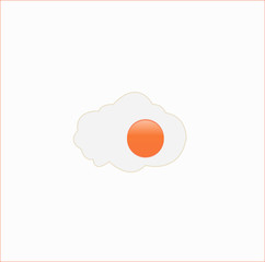 Vector Fried Egg Icon