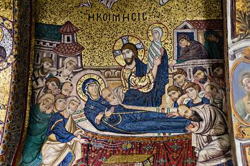 Byzantine Mosaic in  Catholic Church of   Santa Maria dell'Ammir
