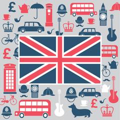 Graphic set of great britain symbols