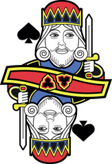 Stylized King of Spades no card