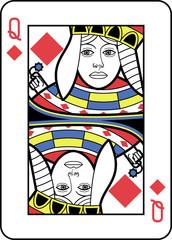 Stylized Queen of Diamonds