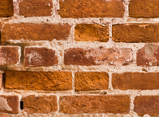 texture of the wall of red brick
