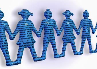 Team holding hands keywords teamwork better together