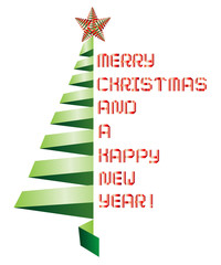 Merry Christmas and a Happy New Year - Vector