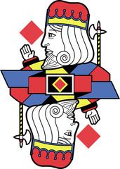 Stylized King of Diamonds no card