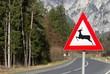 Zdjęcia na płótnie, fototapety, obrazy : Wildwechsel Verkehrsschild