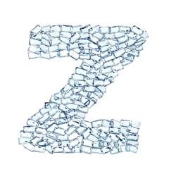 Z lettera diamanti cristalli gemme 3d, sfondo bianco