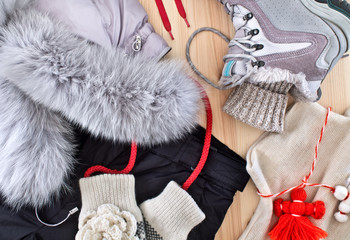warm clothes for winter recreation