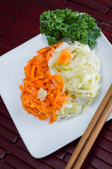 fermented carrots and cabbage