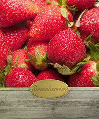 Strawberries labeled