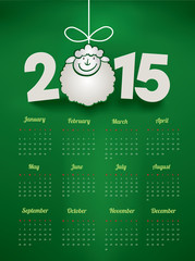 calendar for new year with funny sheep