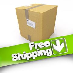 Free shipping, cardboard box