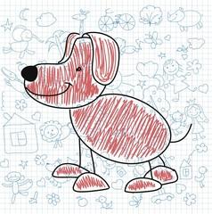 Детские рисунки каракули собаки