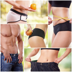 Gesund leben - Collage