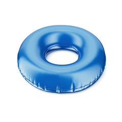 Blue inflatable ring