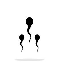 Spermatozoids icon on white background.