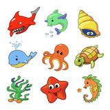 illustration of Sea Animals Collection