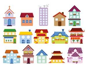 Мультфильм фон с домом