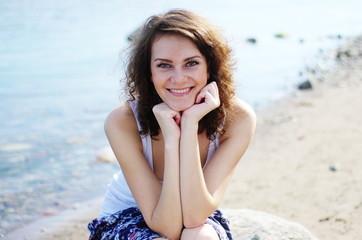Young woman smiling at camera