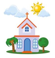 Мультфильм значок дома