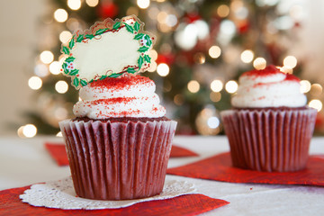 Christmas Cupcake Blank Tag