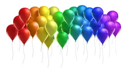 Ballons in Regenbogenfarben