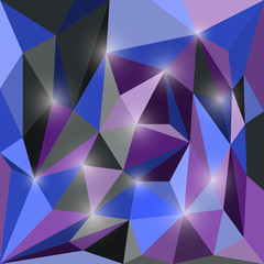 Abstract bright colored polygonal triangular geometric backgroun