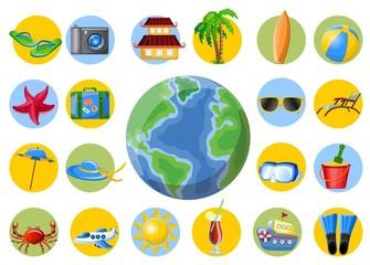 Путешествия веб-иконы