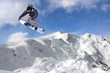 Jumping snowboarder