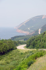 Road along coastline