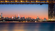 GWB and NYC skyline at sunset